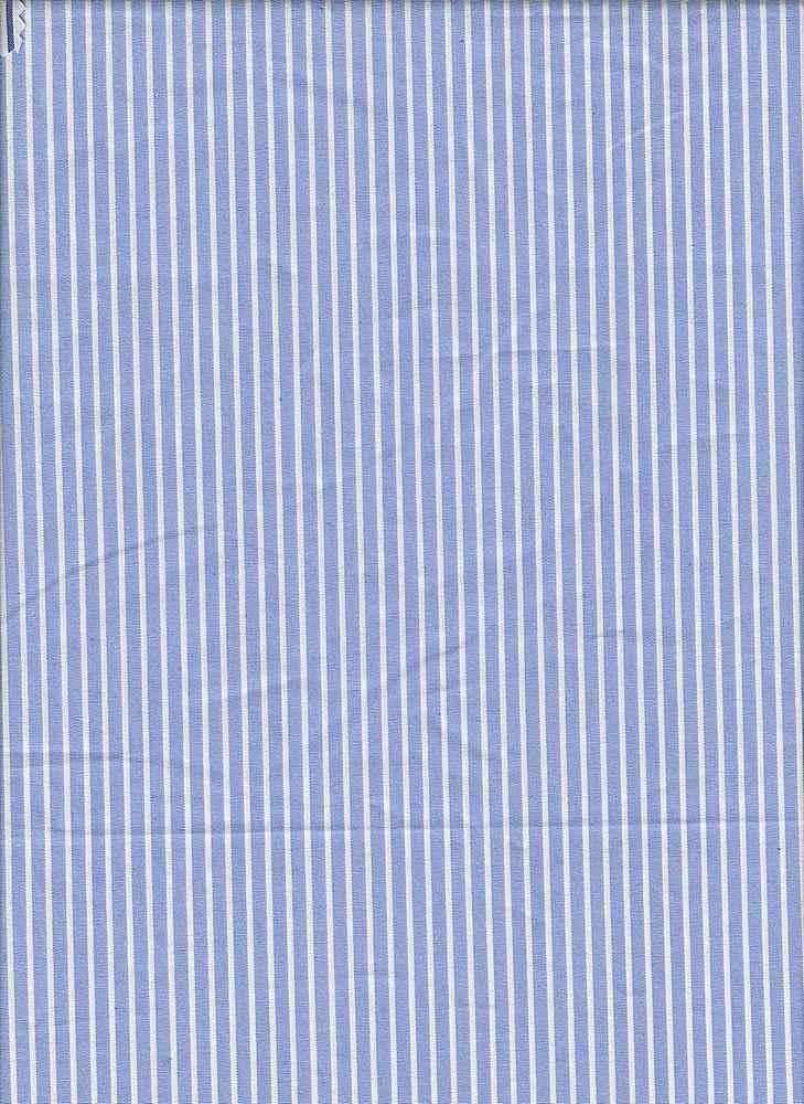 """19415 / CHAMBRAY/WHITE / COT/SPAN POPLIN  3/16"""" Stripe"""