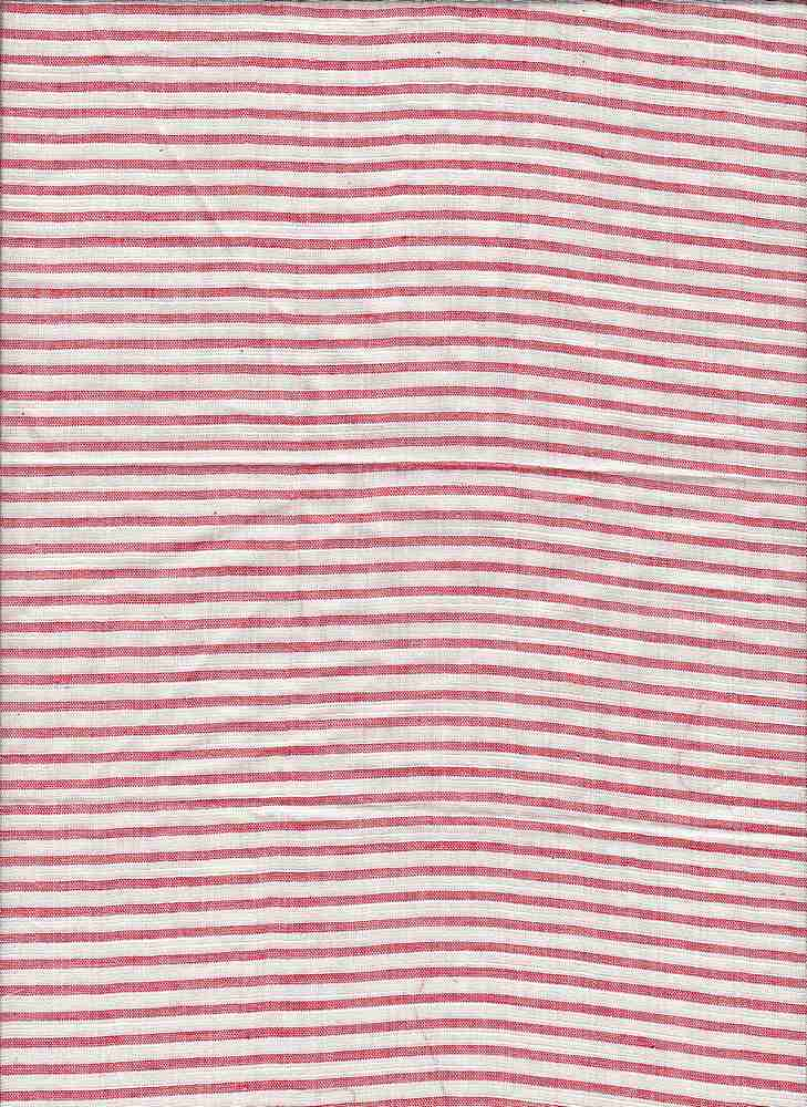 19447 / RED/NATURAL / COTTON RAYON STRIPE