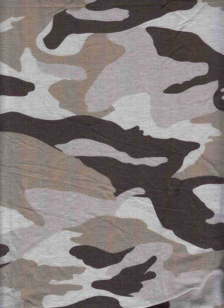 PCAM 10022 / GREY / CAMOUFLAGE PRINT ON BABY FRENCH TERRY