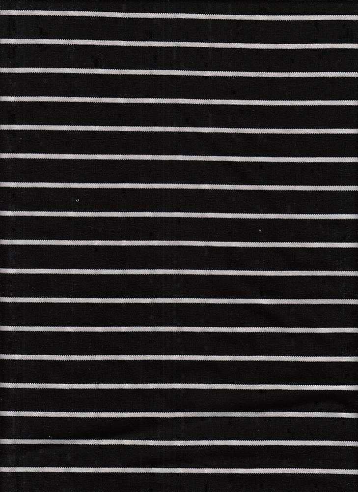 19501 / BLACK/NATURAL / RAYON POLY STRIPE