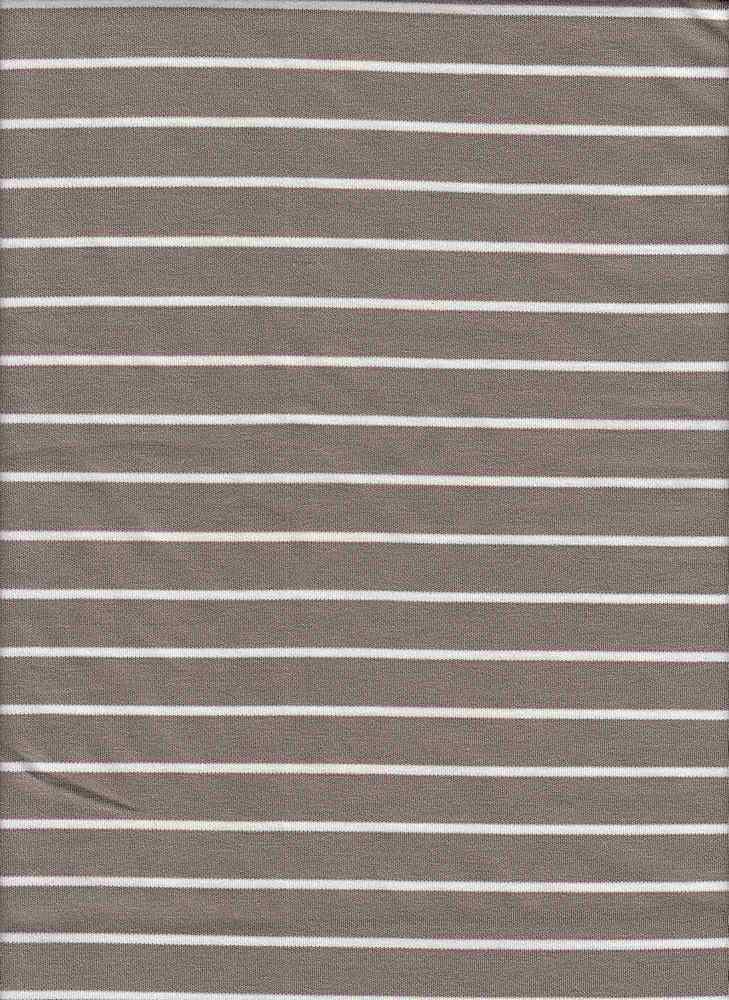 19501 / MOCHA/NATURAL / RAYON POLY STRIPE