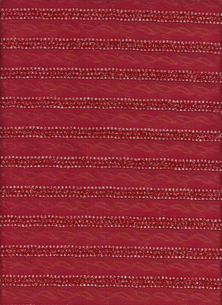 19499 / RED / CHENILLE KNIT