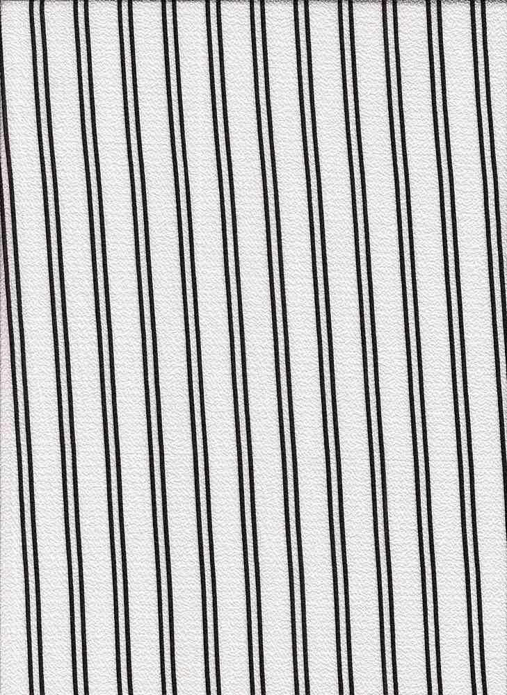 PSTR 10060 / WHITE/BLACK / VERTICAL TRACK STRIPE