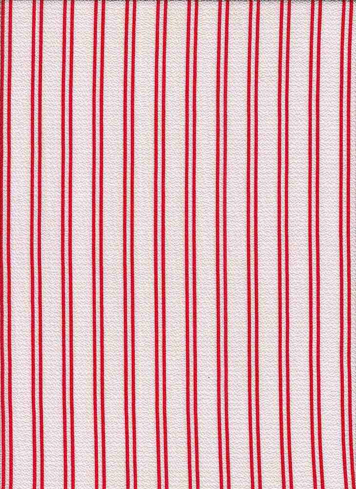 PSTR 10060 / WHITE/RED / VERTICAL TRACK STRIPE