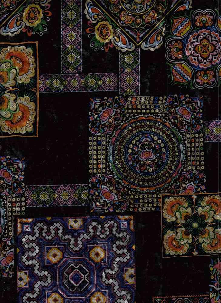 PGEO 10070 / MULTI  C#1 / KIMONO VELVET PAPER PRINT  D#30 H368 TURKISH TILE