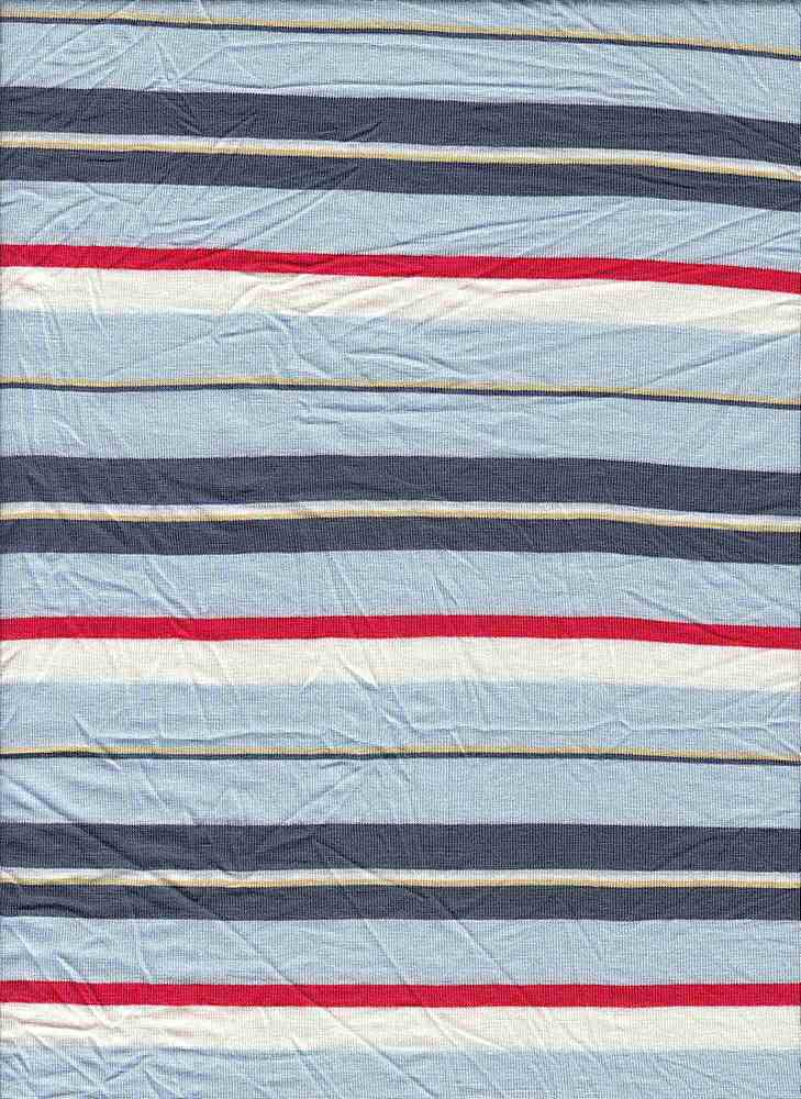 19508 / PALE BLUE / MULTI STRIPE JERSEY SPANDEX