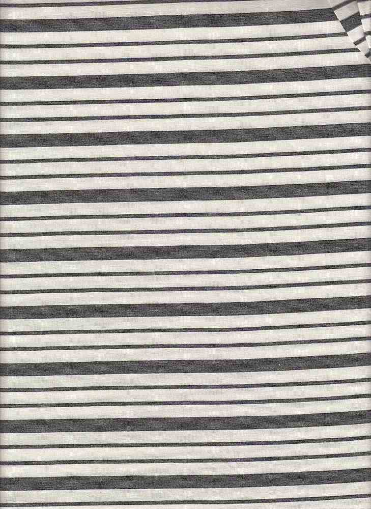 19513 / CHARCOAL/NATURAL / Compact Siro Verigated Stripe