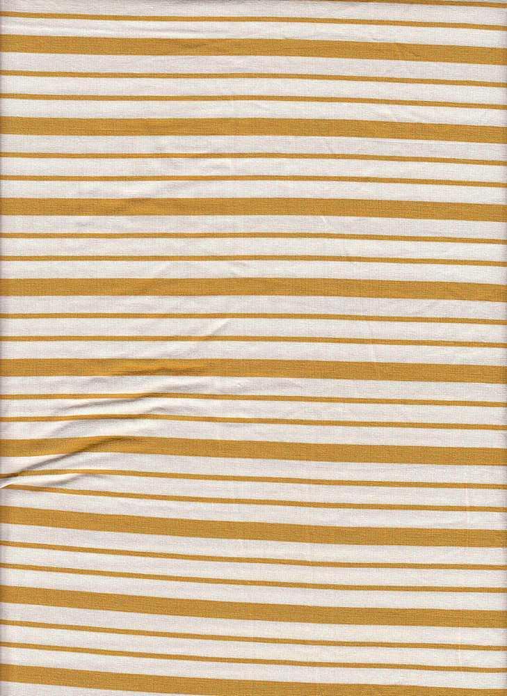 19513 / MUSTARD/NATURAL / Compact Siro Verigated Stripe