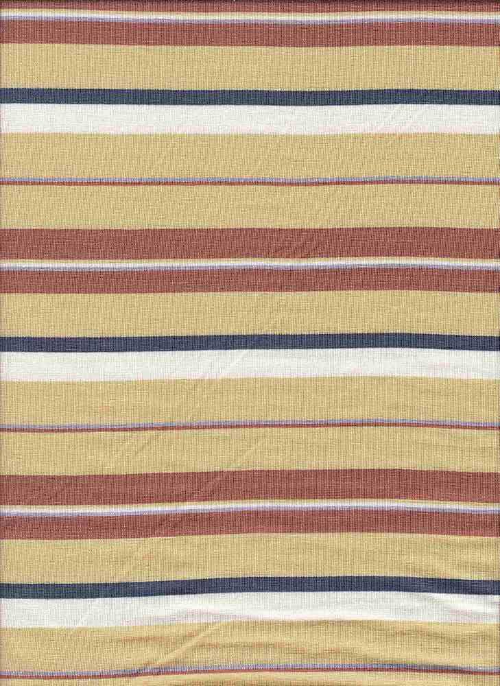 19508 / STRAW / MULTI STRIPE JERSEY SPANDEX