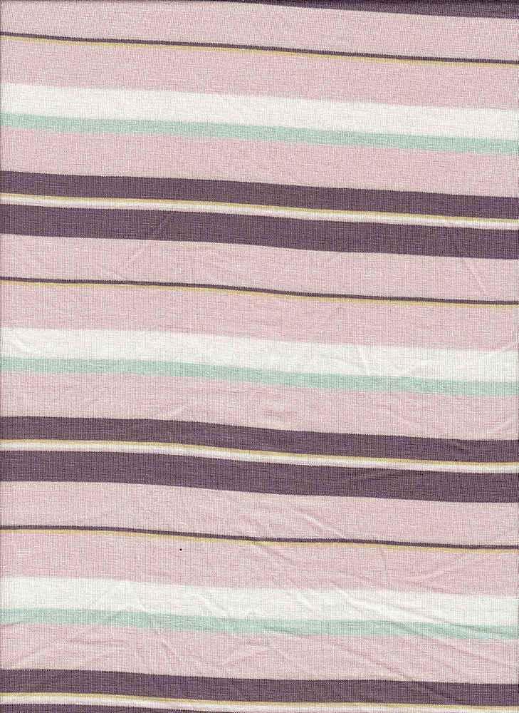 19508 / PINK SAND / MULTI STRIPE JERSEY SPANDEX