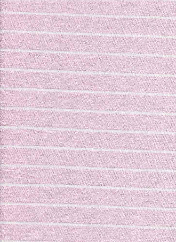 D1077 STRIPE / BLUSH/WHITE / BABY FRENCH TERRY STRIPE