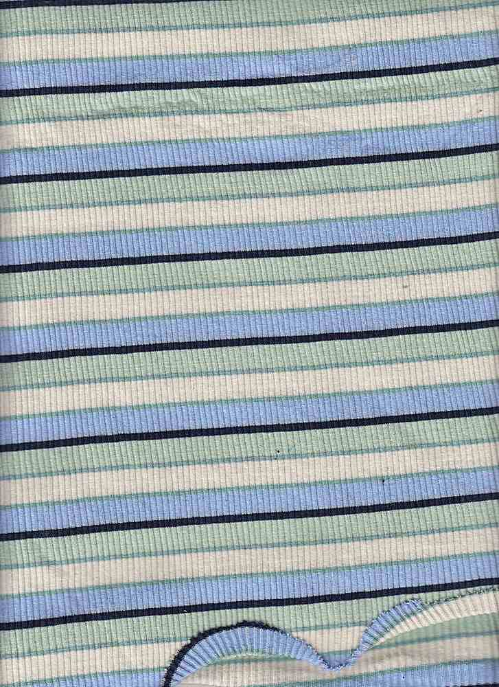 D1065 / BLUE/MINT/IVORY / 4X2 RIB