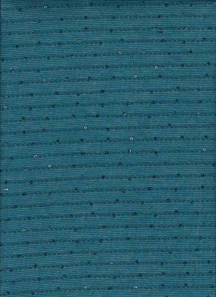 13070 SEQUIN / TEAL / 100% POLY SWEATER STRIPE SEQUINS