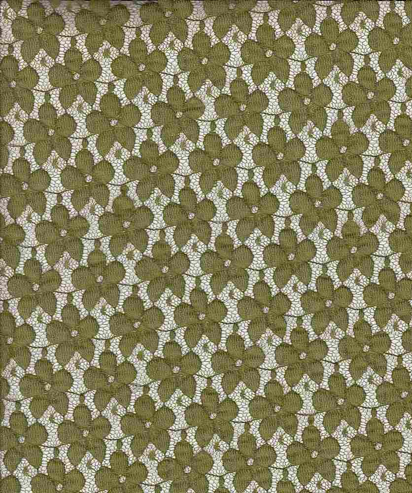 LACE SMLPANSY / OLIVE / SMALL PANSY LACE