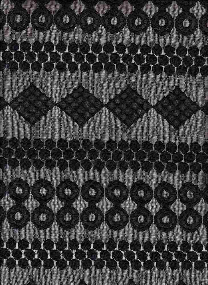 15108 / BLACK / GEOMETRIC LACE