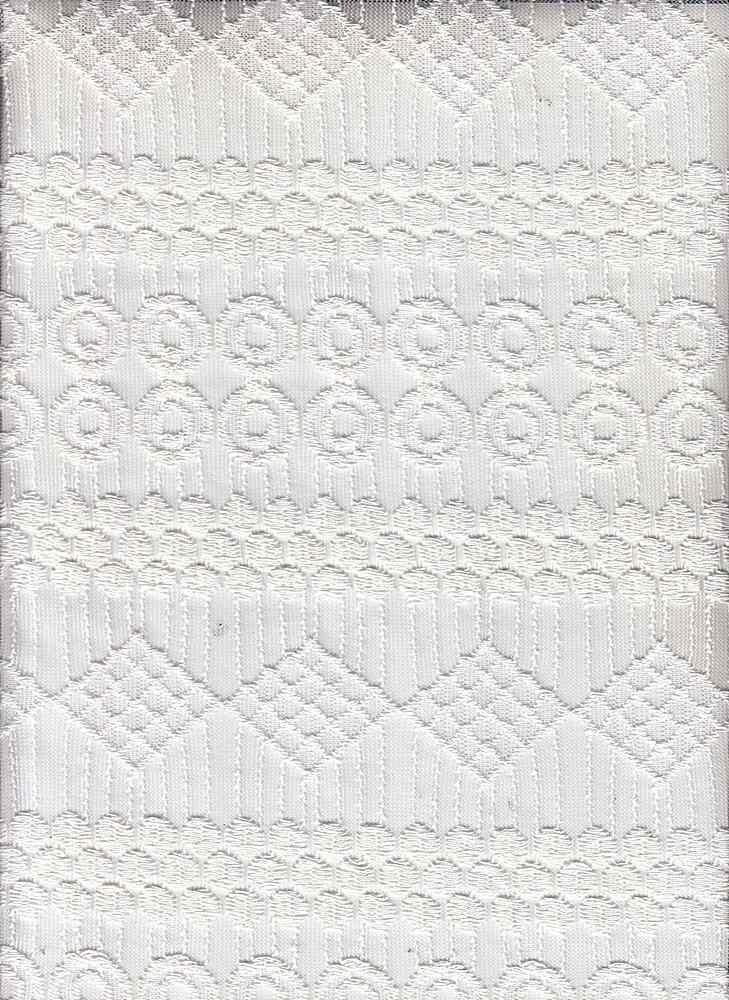 15108 / WHITE / GEOMETRIC LACE