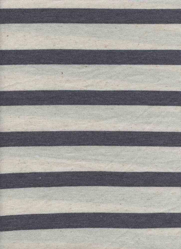HACCI UNEVENST / LINEN DENIM / 76/14/6/4 POLY RAYON LINEN SPANDEX UNEVEN STRIPE HL
