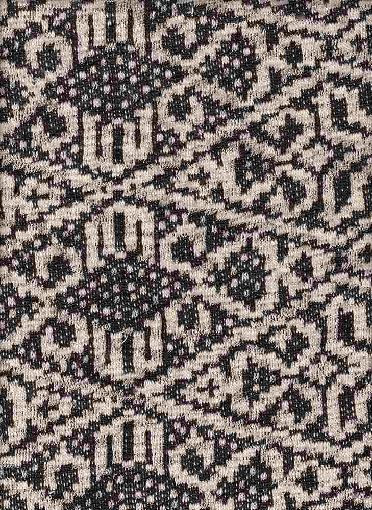 17054 / BLACK/NATURAL / AZTEC LOOP TERRY