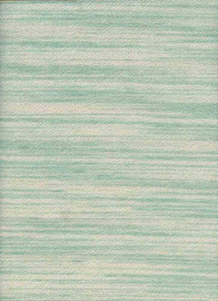 13991 / TEAL WHITE / MONO STRIPE LOOP TERRY