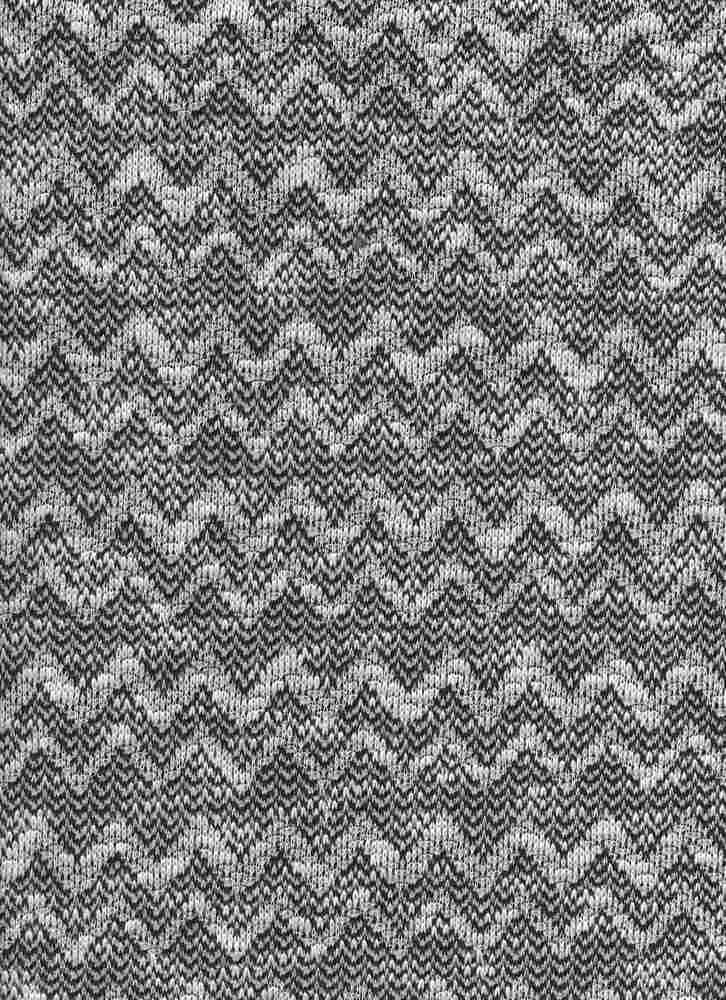 17061 / BLACK / WHITE / CHEVRON FRENCH TERRY