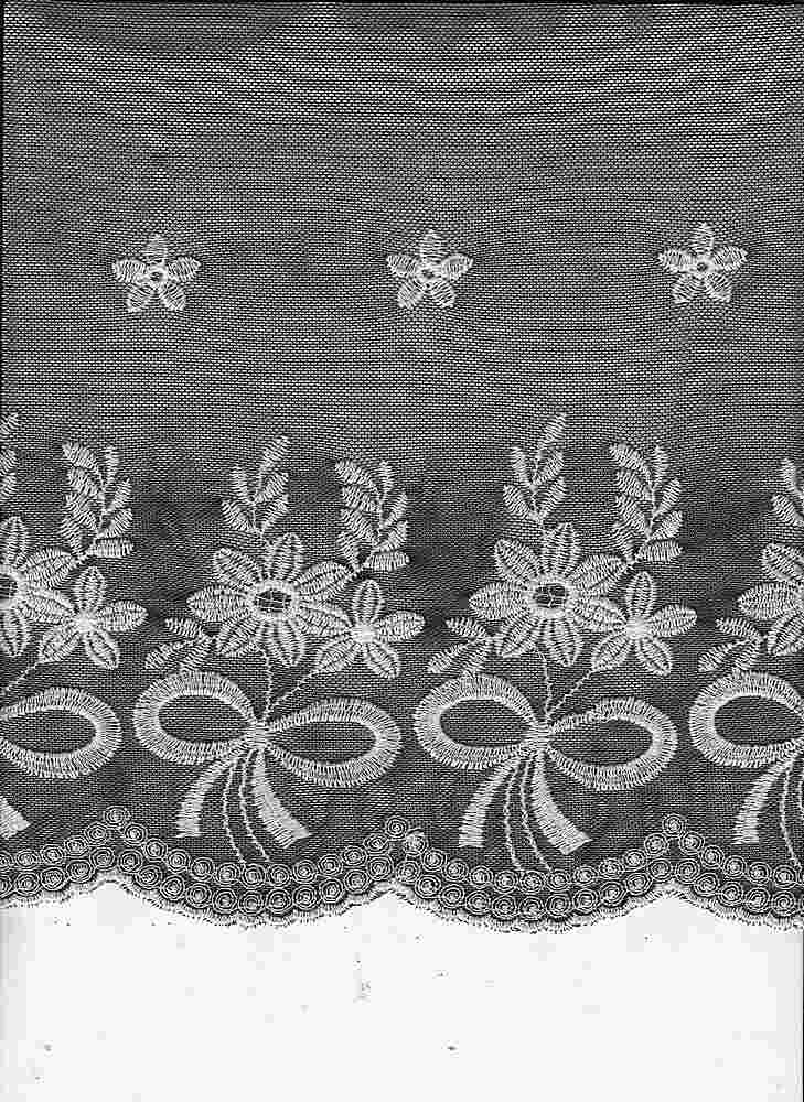 16065 / BLACK/IVORY / DOUBLE EMBROIDERY RIBBON BOQUET