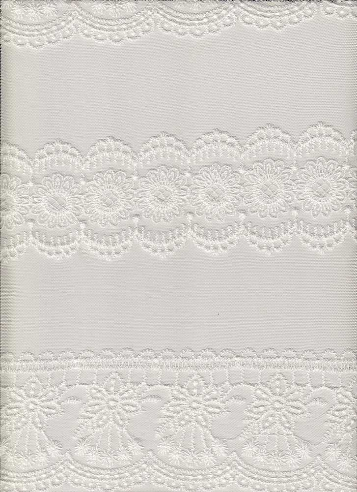 14107 / WHITE / FRENCH EMBROIDERY