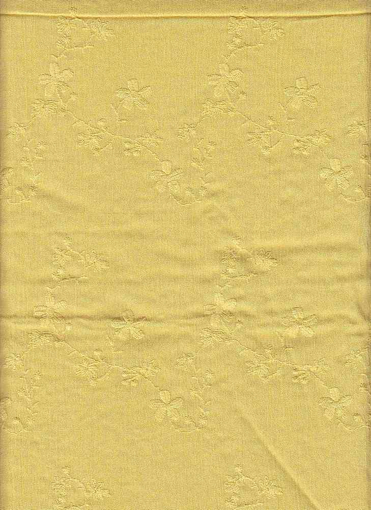 19424 / BANANA / EMBROIDERY CREPON