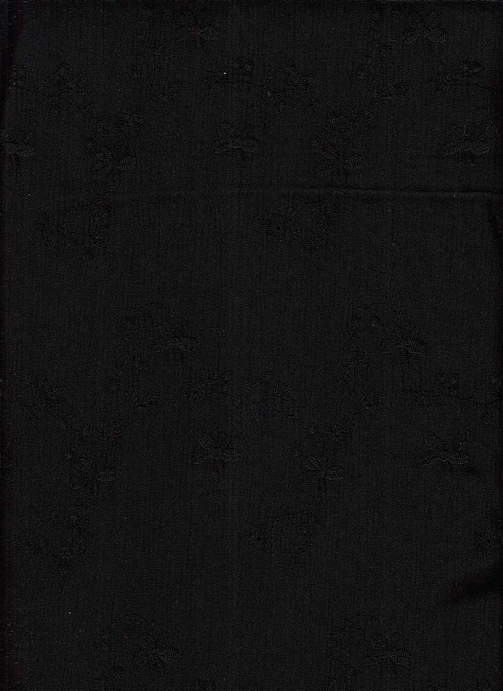 19424 / BLACK / EMBROIDERED CREPON