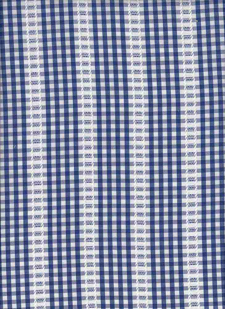 19458 / ROYAL/WHT / GINGHAM WITH TEXTURE