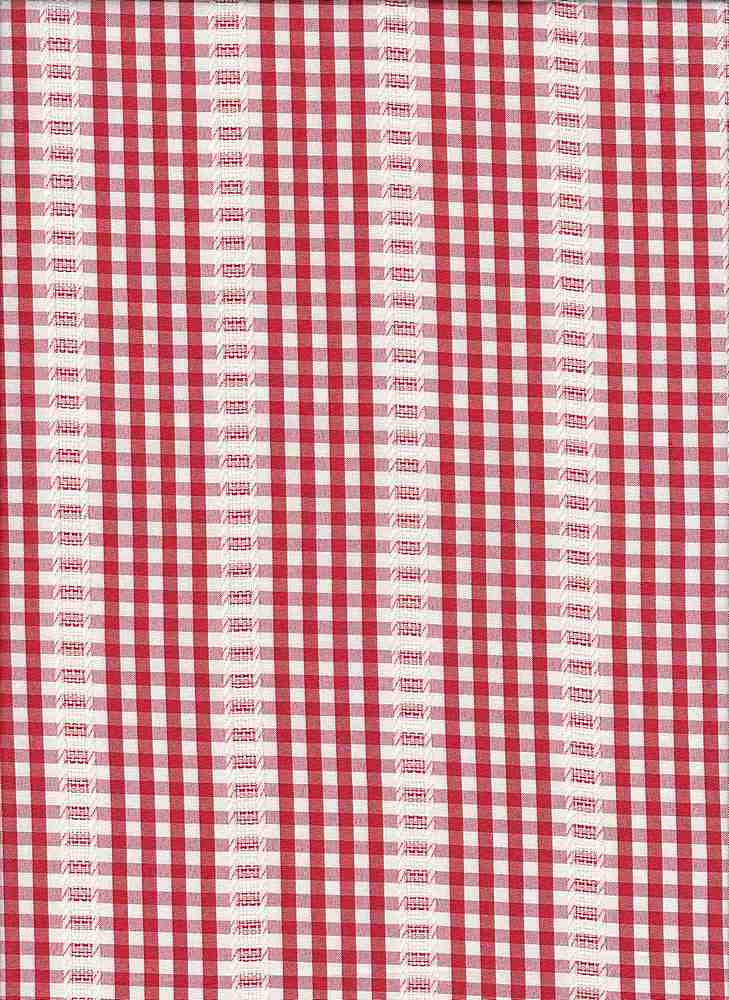 19458 / RED/WHT / GINGHAM WITH TEXTURE