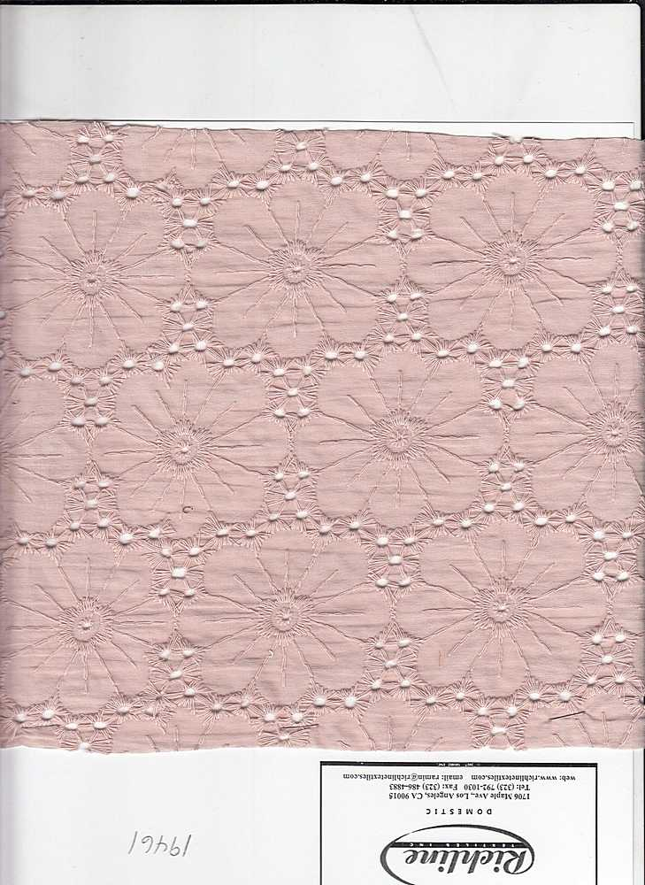 19461 / PINK CLOUD / FLOWER EYELET