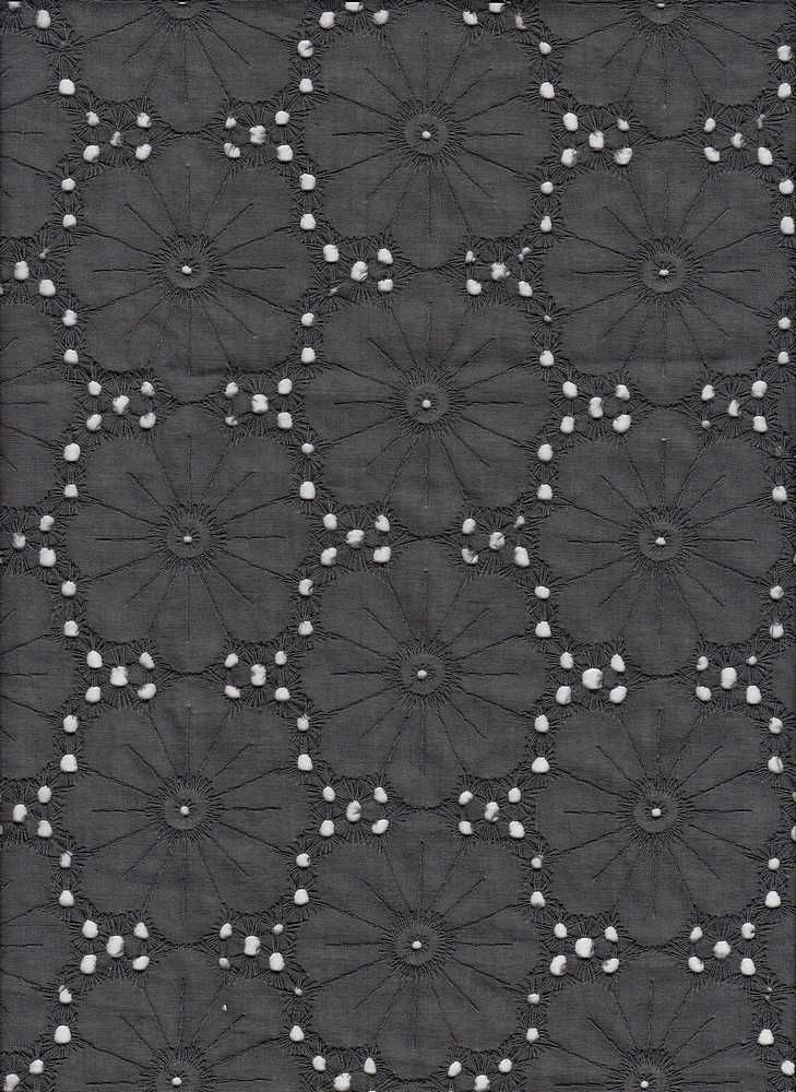 19461 / BLACK WASH / FLOWER EYELET