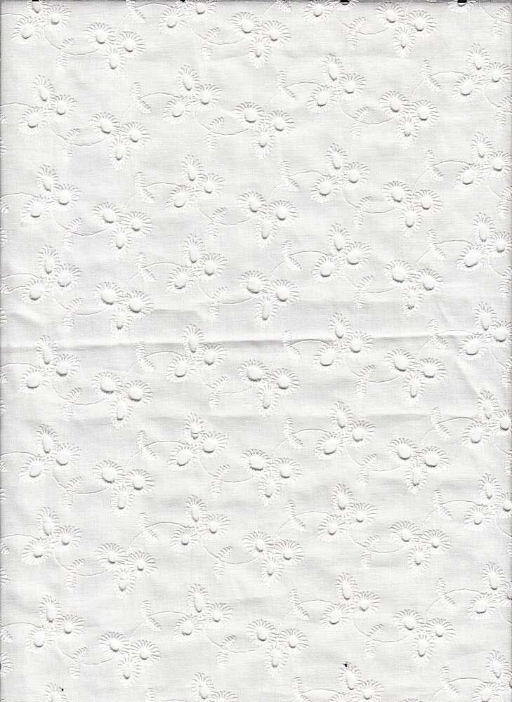 19462 / WHITE / LEAF EYELET