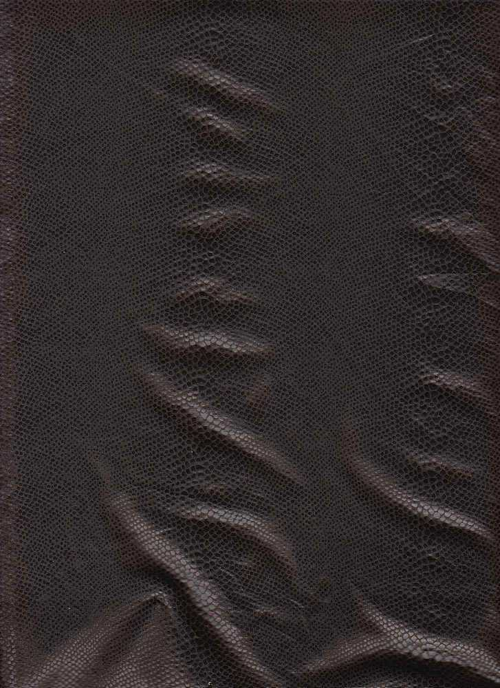 15062 / BROWN / POLY SPANDEX PLEATHER SNAKE