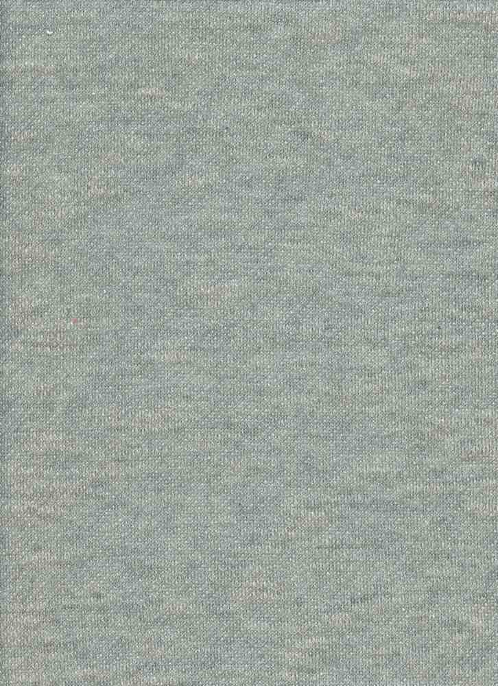 15165 / HEATHER GRAY / FRENCH TERRY SLUB