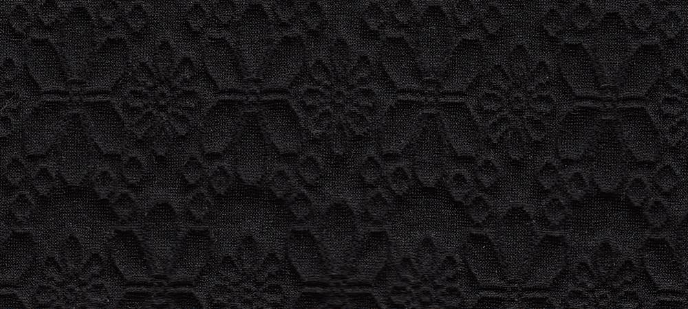 17050 / BLACK / QUILTED FLOWERS