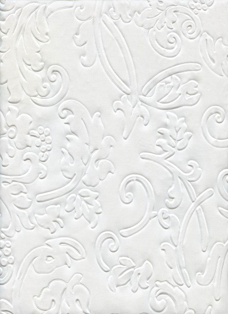 EMBOSSED TECHNO / IVORY / 95/5 POLY SPANDEX EMBOSSED TECHNO CK16613N0829